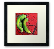 A Love Note From Mexico Framed Print