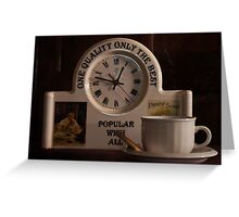 T is for......Time for Tea Greeting Card