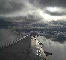 From the wing of a plane by Amanda Huggins