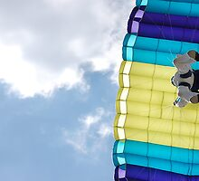 Parachuting down by Amanda Huggins
