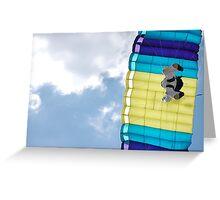 Parachuting down Greeting Card