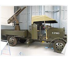 Thornycroft 'J' Type Lorry with Anti-Aircraft Gun Poster
