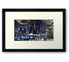 WINDY IN THE CITY Framed Print