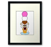 I Am Cool, I Am The Breeze. I Am The Ice Cream Bear Framed Print
