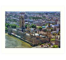 High over London ~ HDR Art Print