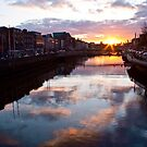 Sunset on the River Liffey - Dublin, Ireland by armiller007