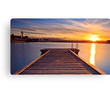 Sunset over the jetty Canvas Print
