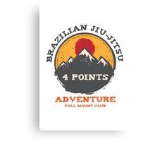 BJJ 4 Points Full Mount Club (grunge version) Canvas Print