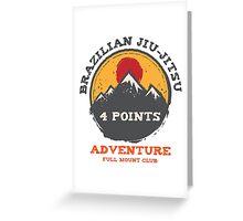 BJJ 4 Points Full Mount Club (grunge version) Greeting Card