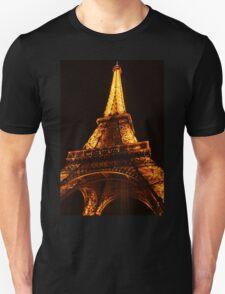 Glowing Gold Eiffel Unisex T-Shirt