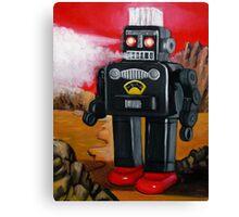 Smoking Robot on Mars Canvas Print