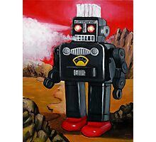 Smoking Robot on Mars Photographic Print