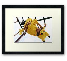 Pikachu Kigurumi Framed Print