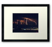GOD'S LIGHTNING SHOW Framed Print