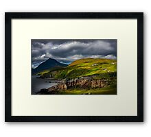 Elgol and Blaven, in Summer, Isle of Skye. Scotland. Framed Print
