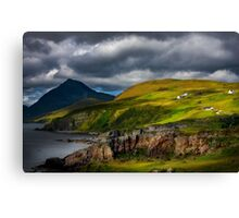 Elgol and Blaven, in Summer, Isle of Skye. Scotland. Canvas Print