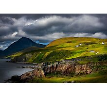 Elgol and Blaven, in Summer, Isle of Skye. Scotland. Photographic Print
