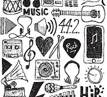 Music Doodles by Matthew Andrews