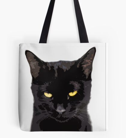 unamused cat disapproves  Tote Bag