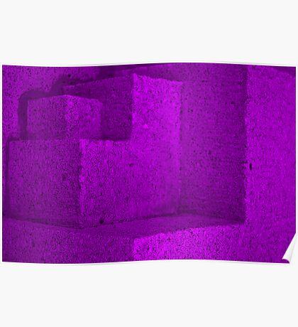 purple cubes Poster