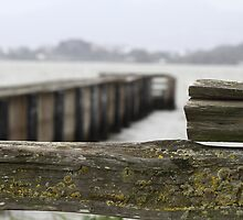 weathered bay pier by fototaker