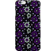 Purple pansy flower pattern iPhone Case/Skin