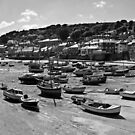 Mousehole harbour by Lissywitch