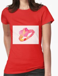 Ring abstract watercolor poster Womens Fitted T-Shirt