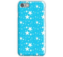 Blue and white stars pattern iPhone Case/Skin