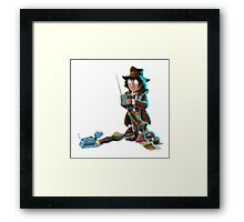 Doctor Who - 4th Doctor and K9 Framed Print