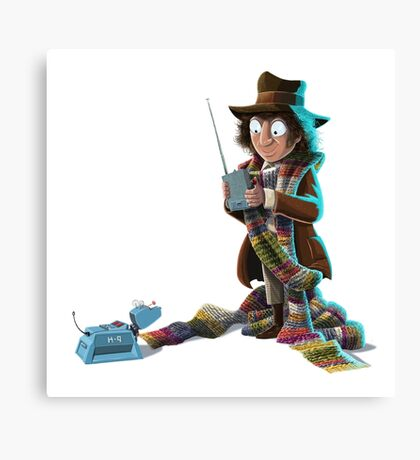 Doctor Who - 4th Doctor and K9 Canvas Print