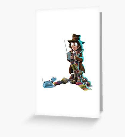 Doctor Who - 4th Doctor and K9 Greeting Card