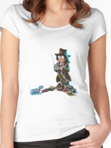 Doctor Who - 4th Doctor and K9 Women's Fitted Scoop T-Shirt