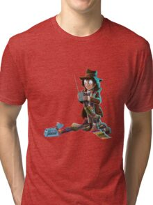 Doctor Who - 4th Doctor and K9 Tri-blend T-Shirt
