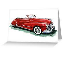 48 Pontiac Silver Streak Greeting Card