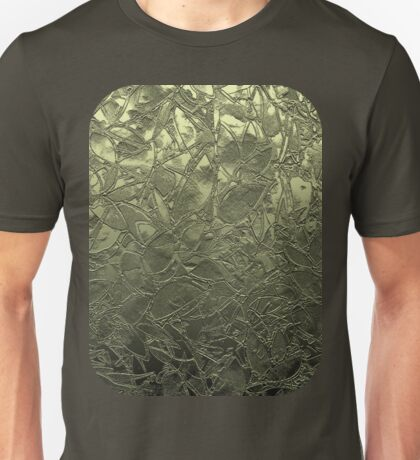 Metal Grunge Relief Floral Abstract Unisex T-Shirt