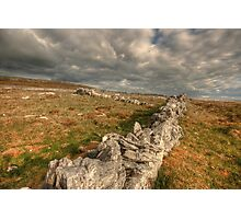 Burren Stone Walls Photographic Print
