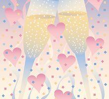 Champagne Celebration by Lisann