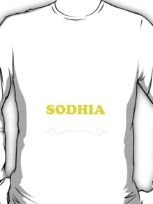 Keep Calm and Let SODHIA Handle it T-Shirt