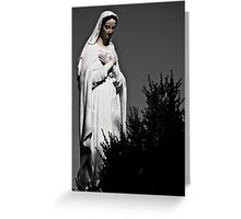 White Mary Greeting Card