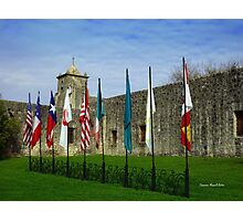 Flags at Spanish Fort Photographic Print