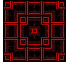 Red and Black Abstract Geometric Pattern  Photographic Print
