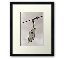 Nonconformist Bird On A Wire... Framed Print