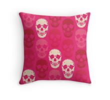 Saccharine Skulls Throw Pillow