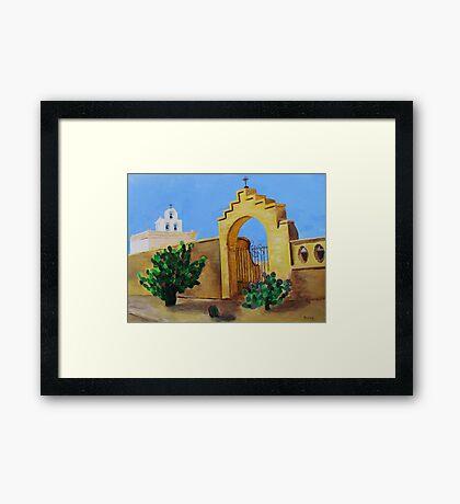 Mission San Xavier Framed Print