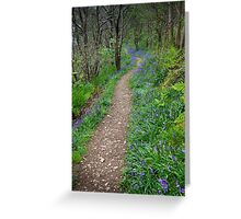 Along the Bluebell Path Greeting Card