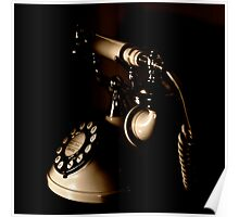 Old Fashioned Telephone Poster