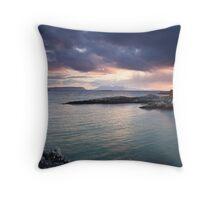 Rum and Eigg at Sunset from Arisaig II Throw Pillow