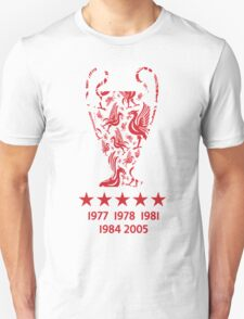 Liverpool FC - Champions League Winners Unisex T-Shirt