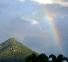 Rainbow On the Pyramid by D. D.AMO